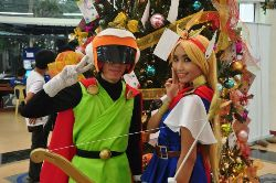 Hoshiko Hikari and Kazuo Ryuhei as Super SaiyanMan and Magical Princess Holy-Up