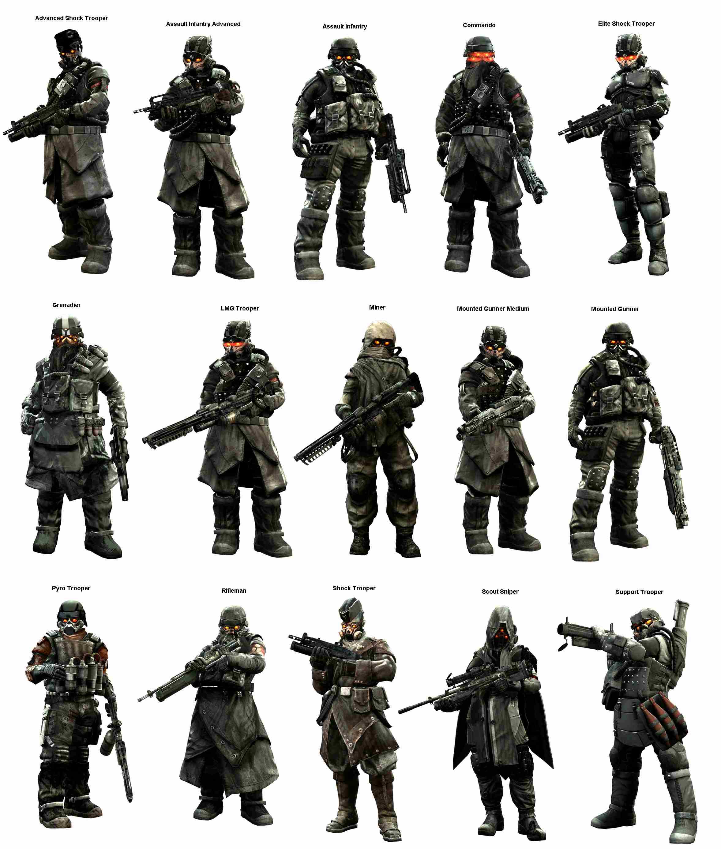 Helghast Units