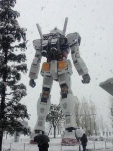 Snow Gundam Statue