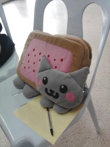 A sample of Akemi-chan's work. Nyan Cat.