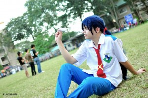 Robin James Cheshire as Alto Saotome from Macross Frontier. Photo taken by Lanz Enterina.