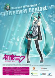 The Otaku House Hatsune Miku Giveaway Contest Poster