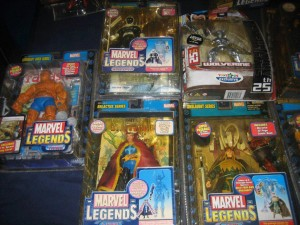 Some of Tidoy's Marvel Legends collection. Can you spot the Silver Wolverine?