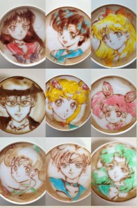 sailor moon coffee art