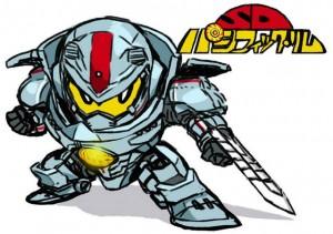 Shirow's chibi Jaeger for Bandai Cardass